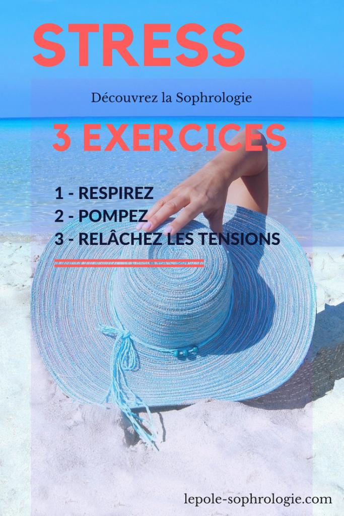 affiche - découvrez trois exercices de sophrologie pour vous relaxer